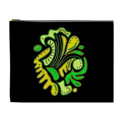 Yellow and green spot Cosmetic Bag (XL)