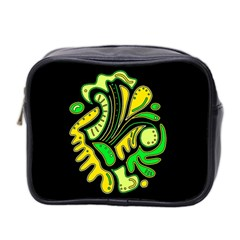 Yellow and green spot Mini Toiletries Bag 2-Side