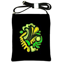 Yellow and green spot Shoulder Sling Bags