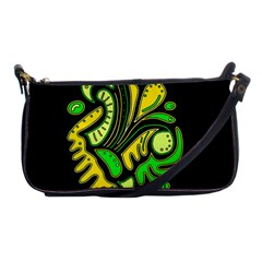 Yellow and green spot Shoulder Clutch Bags