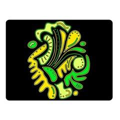 Yellow and green spot Fleece Blanket (Small)