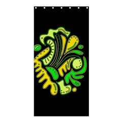 Yellow and green spot Shower Curtain 36  x 72  (Stall)