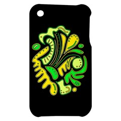 Yellow and green spot Apple iPhone 3G/3GS Hardshell Case