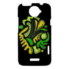 Yellow and green spot HTC One X Hardshell Case