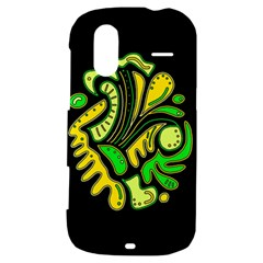 Yellow and green spot HTC Amaze 4G Hardshell Case