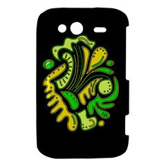 Yellow and green spot HTC Wildfire S A510e Hardshell Case