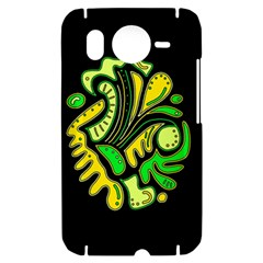 Yellow and green spot HTC Desire HD Hardshell Case