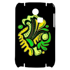 Yellow and green spot Samsung S3350 Hardshell Case