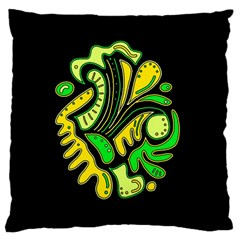 Yellow and green spot Large Cushion Case (One Side)