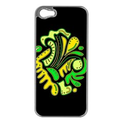Yellow and green spot Apple iPhone 5 Case (Silver)