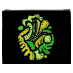 Yellow and green spot Cosmetic Bag (XXXL)