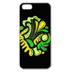 Yellow and green spot Apple Seamless iPhone 5 Case (Clear)