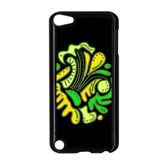 Yellow and green spot Apple iPod Touch 5 Case (Black)