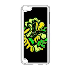 Yellow and green spot Apple iPod Touch 5 Case (White)