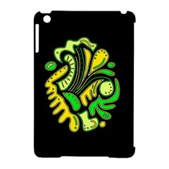 Yellow and green spot Apple iPad Mini Hardshell Case (Compatible with Smart Cover)