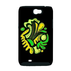 Yellow and green spot Samsung Galaxy Note 2 Hardshell Case (PC+Silicone)