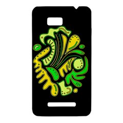 Yellow and green spot HTC One SU T528W Hardshell Case