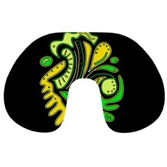 Yellow and green spot Travel Neck Pillows