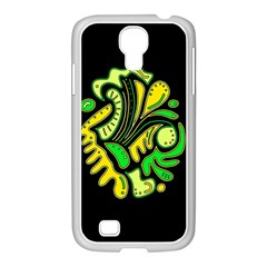 Yellow and green spot Samsung GALAXY S4 I9500/ I9505 Case (White)