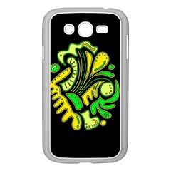 Yellow and green spot Samsung Galaxy Grand DUOS I9082 Case (White)