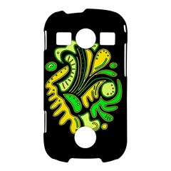 Yellow and green spot Samsung Galaxy S7710 Xcover 2 Hardshell Case