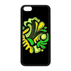 Yellow and green spot Apple iPhone 5C Seamless Case (Black)