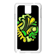 Yellow and green spot Samsung Galaxy Note 3 N9005 Case (White)