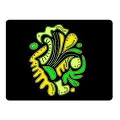Yellow and green spot Double Sided Fleece Blanket (Small)