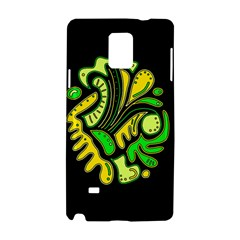 Yellow and green spot Samsung Galaxy Note 4 Hardshell Case