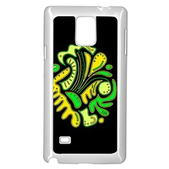 Yellow and green spot Samsung Galaxy Note 4 Case (White)