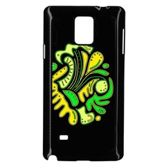 Yellow and green spot Samsung Galaxy Note 4 Case (Black)
