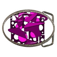 Something purple Belt Buckles