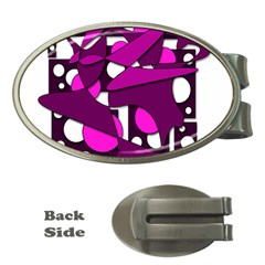 Something purple Money Clips (Oval)