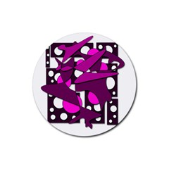 Something purple Rubber Round Coaster (4 pack)