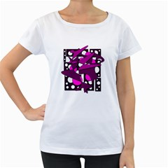 Something purple Women s Loose-Fit T-Shirt (White)