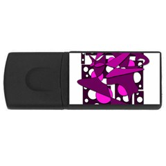 Something purple USB Flash Drive Rectangular (4 GB)