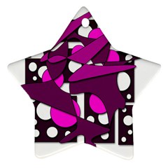 Something purple Star Ornament (Two Sides)