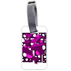 Something purple Luggage Tags (One Side)