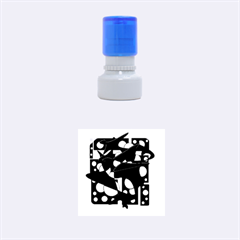 Something purple Rubber Round Stamps (Small)
