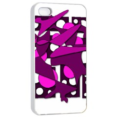 Something purple Apple iPhone 4/4s Seamless Case (White)