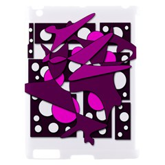 Something purple Apple iPad 2 Hardshell Case (Compatible with Smart Cover)