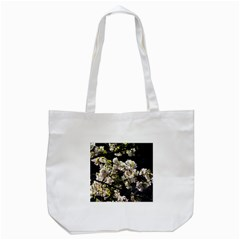 Blooming Japanese cherry flowers Tote Bag (White)