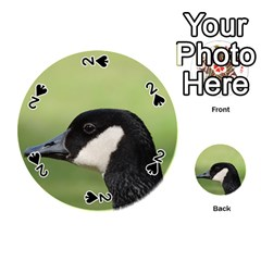Goose Bird In Nature Playing Cards 54 (round)