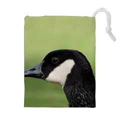 Goose Bird In Nature Drawstring Pouches (extra Large)