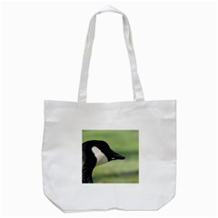 Goose, Black And White Tote Bag (white)