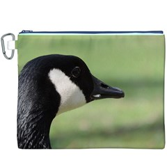 Goose, black and white Canvas Cosmetic Bag (XXXL)
