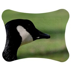 Goose, black and white Jigsaw Puzzle Photo Stand (Bow)