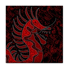 Red dragon Tile Coasters