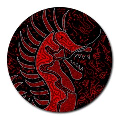 Red dragon Round Mousepads