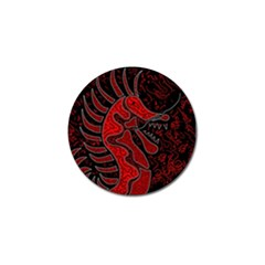 Red dragon Golf Ball Marker